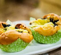 Gniazdka ptysiowe z farszem warzywnym - idealne danie na przyjęcie dla dzieci