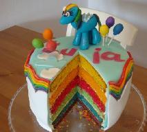 Tęczowy tort urodzinowy dla dziecka