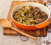 Fasolka szparagowa po włosku - z wątróbką i pieczarkami