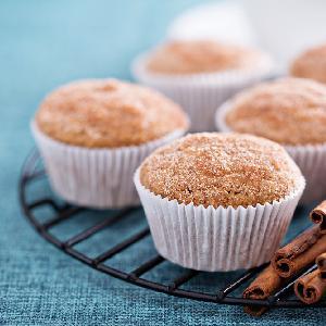Puszyste muffiny z przecierem jabłkowym ze słoika