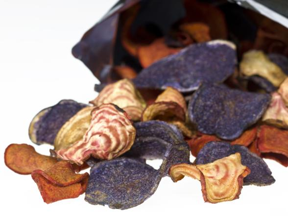 Lekkie przekąski: chipsy z buraków